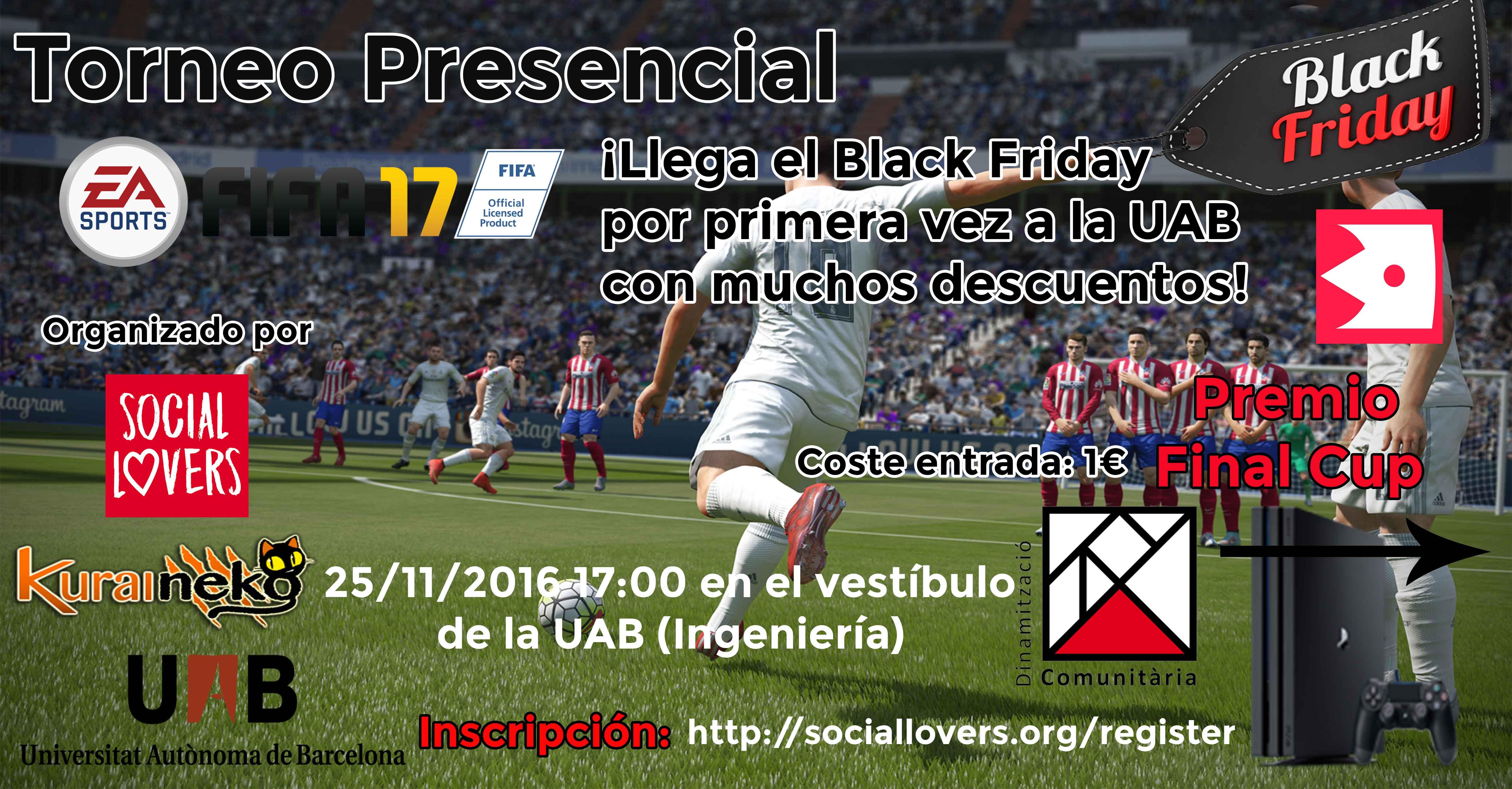 Black Friday UAB – Torneos + compras